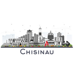 chisinau moldova city skyline with gray buildings vector image
