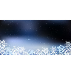 christmas a background with snowflakes vector image