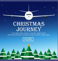 christmas journey flat vector image