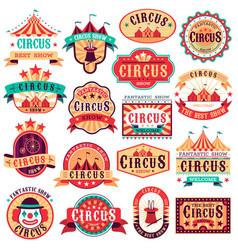 circus emblems carnival festival fun circus show vector image