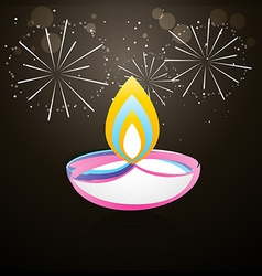 coloful diwali design vector image
