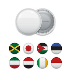 composed round badges with flags vector image