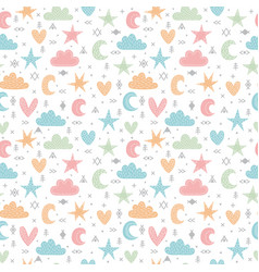 cute tribal seamless pattern with hand drawn vector image