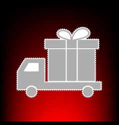 delivery gift vector image