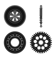 design of auto and part sign set of auto vector image