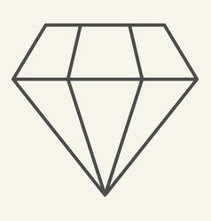 diamond thin line icon brilliant vector image