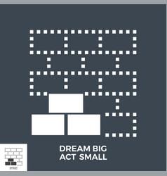 dream big act small glyph icon vector image