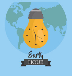 Earth hour environment ecology campaign world vector