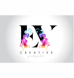 ev vibrant creative leter logo design with vector image