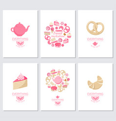 Everyting for tea vector