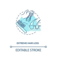 Extreme hair loss concept icon vector