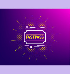 Fastpass line icon amusement park ticket sign vector