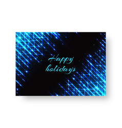festive blank with neon light vector image