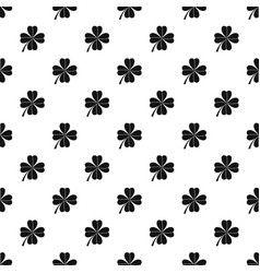 four leaf clover pattern vector image