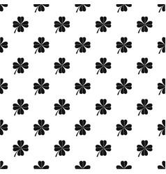 Four leaf clover pattern vector