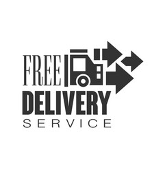 free delivery service logo design template black vector image