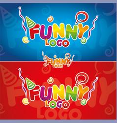 funny logo vector image