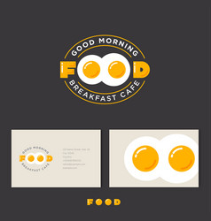 good morning food breakfast cafe egg vector image