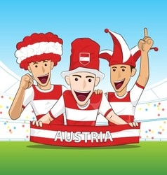 Group of Austria Sport Fans vector