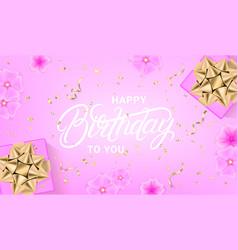 happy birthday celebration design template vector image