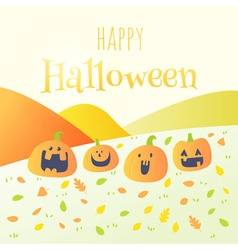 Happy halloween happy pumpkin card vector