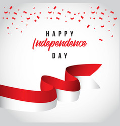 Happy indonesia independent day template design vector