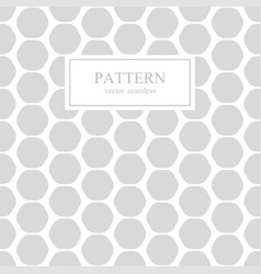 hexagon seamless geometric pattern vector image