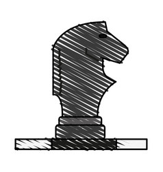 horse chess piece design vector image