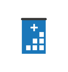 hospital icon cross building human medical vector image