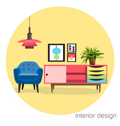 Interior design furniture logo vector