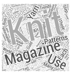 Knitting magazines Word Cloud Concept vector