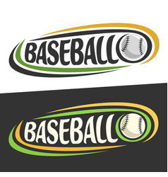 logos for baseball sport vector image