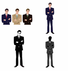 man in a business suit vector image