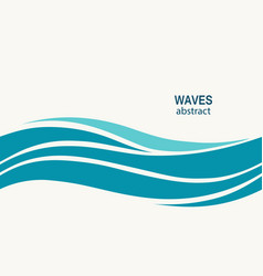 Marine seamless pattern with stylized blue waves vector