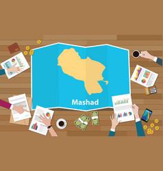 Mashad meshad iran city region economy growth vector