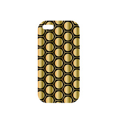 modern phone cover with fashionable geometric vector image