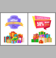 Order now special exclusive offer super price sale vector