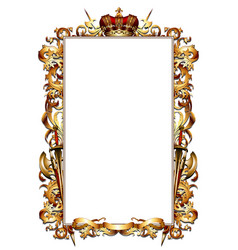 ornate heraldic frame vector image