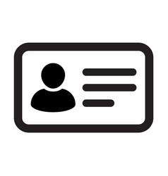 passport icon male user person profile avatar vector image