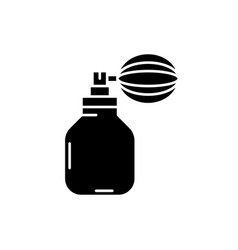 perfume black icon sign on isolated vector image