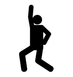 person dancing icon vector image