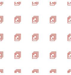 Photo icon pattern seamless white background vector