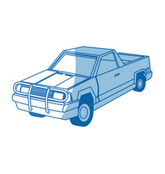 Pickup truck vehicle transport 4x4 design vector