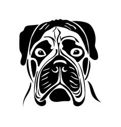 portrait of a dog of the bullmastiff breed vector image vector image