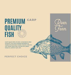 Premium quality carp abstract fish vector
