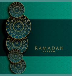 Ramadan kareem islamic decorative pattern design vector