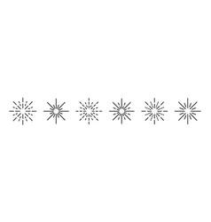 rays icon symbol set simple design vector image