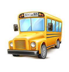 realistic school bus yellow usa vehicle vector image