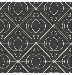 Sacred geometry seamless pattern vector