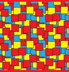seamless - colored squares outlines vector image